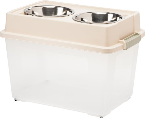 IRIS Large Elevated Feeder with Airtight Food Storage