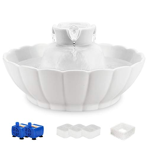 iPettie Tritone Ceramic Pet Drinking Fountain