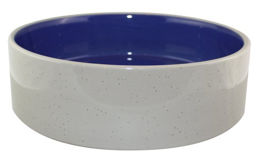 Ethical 9-1/2-Inch Stoneware Crock Dog Dish