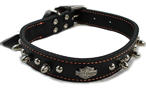 Harley Davidson Leather Spiked Collar