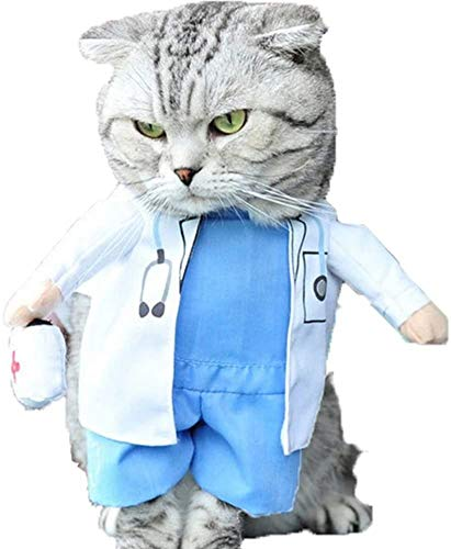 Delifur Halloween Dog Doctor Costume
