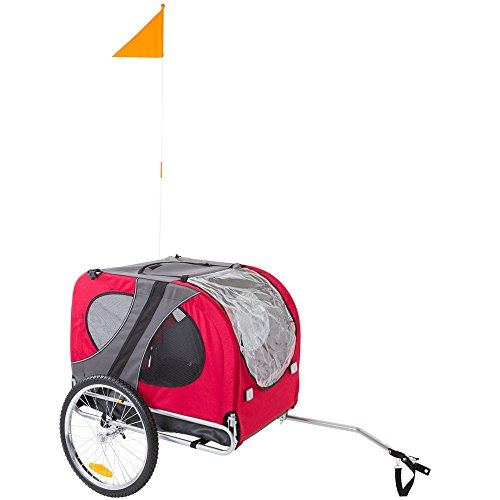 Rage Powersports Red Pull-Behind Dog Bicycle Trailer