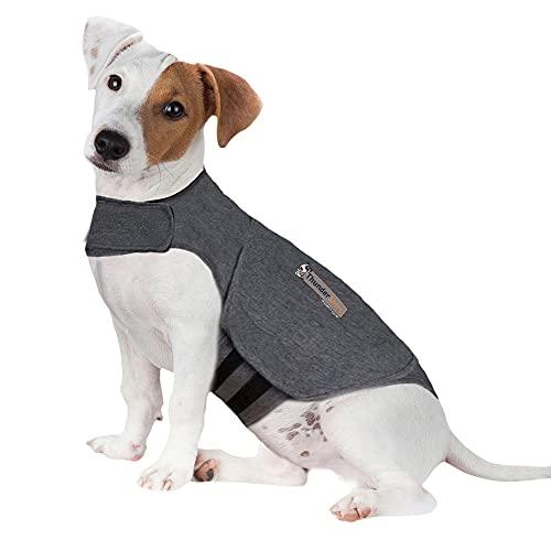 Thundershirt HGS-T01 ThunderShirt Classic Dog Anxiety Jacket, Heather Gray, Small, Heather Grey,...