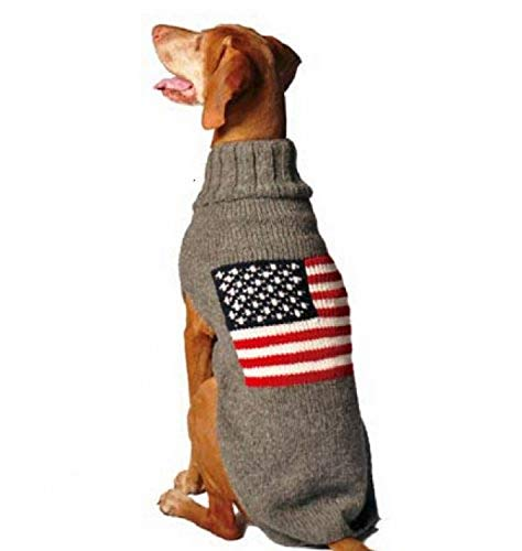 Chilly Dog American Flag Dog Sweaters