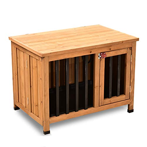 Lovupet Wooden Portable Pet Crate
