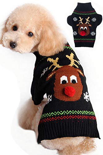 Bobibi Christmas Cartoon Reindeer Dog Sweater