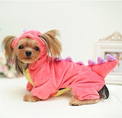 PetsLove Velvet Dinosaur Costume