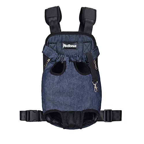 PetBonus Denim Front Kangaroo Pouch Dog Carrier