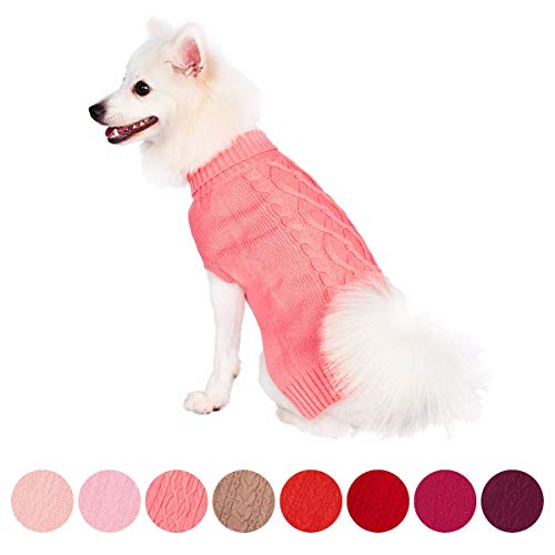 Blueberry Pet Classic Cable Knit Sweater