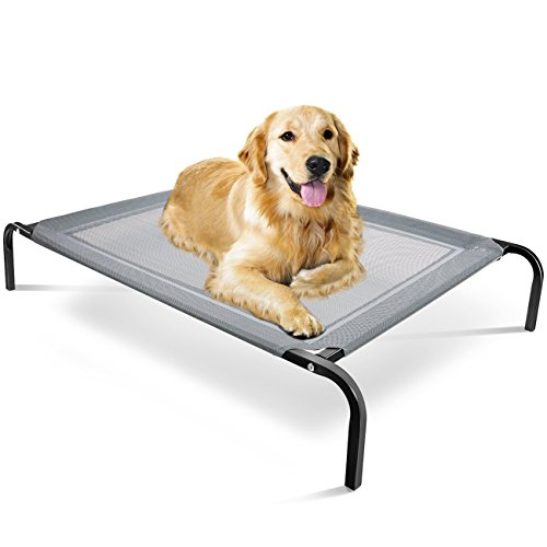 Paws & Pals Steel-Framed Portable Elevated Pet Bed