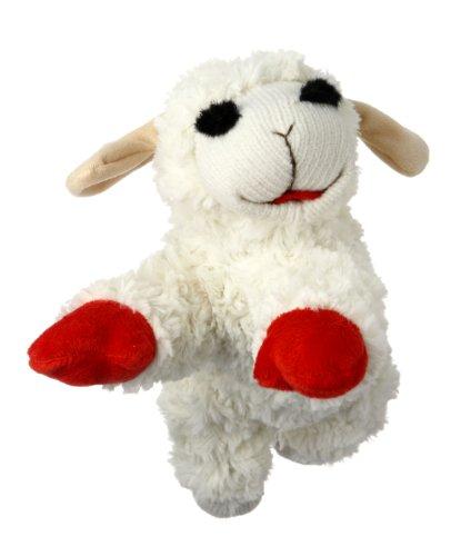 Multipet Plush Dog Toy, Lambchop, 10', White/Tan