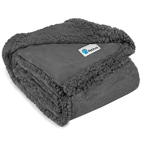 PetAmi Plush Reversible Dog Blanket