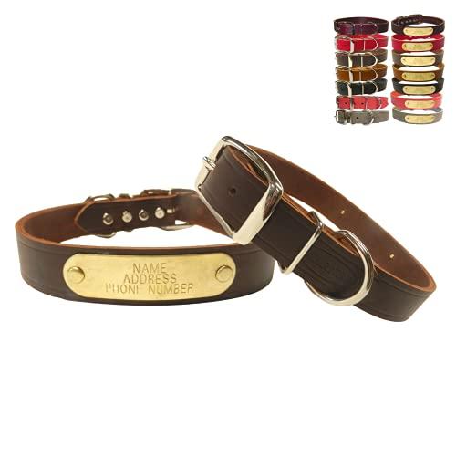 Warner Cumberland Leather Dog Collar