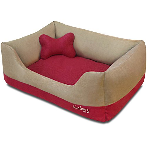 Blueberry Pet Heavy Duty Microsuede Bed