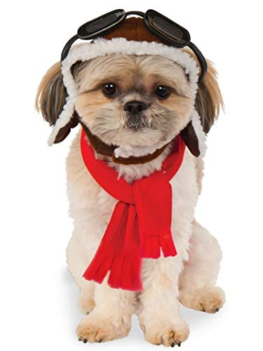 Rubies Pet Aviator Hat and Scarf Costume