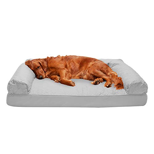 Furhaven Pet Quilted Sofa-Style Dog Bed