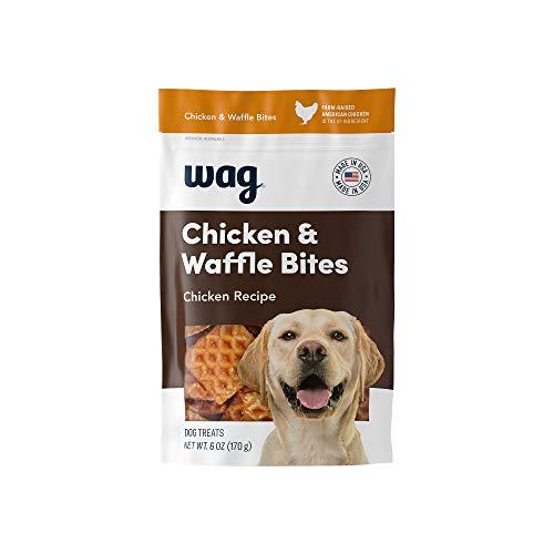Amazon Brand - Wag Treats Chicken and Waffle Bites 6oz