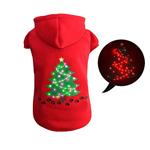 Royalwise Christmas Light Up Dog Outfit