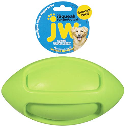 JW Pet Company iSqueak Football Dog Toy