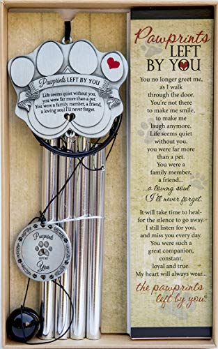 Pawprints Left By You Pet Memorial Wind Chime