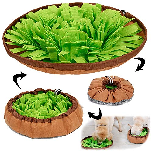 AWOOF Pet Snuffle Mat for Dogs, Interactive Feed Game for Boredom, Encourages Natural Foraging...