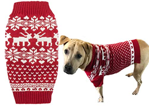 Lanyar Reindeer Holiday Dog Sweater