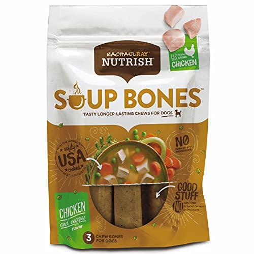 Rachael Ray Nutrish Soup Bones Dog Treats, Chicken & Veggies Flavor, 24 Bones