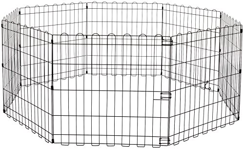 AmazonBasics Foldable Metal Dog Exercise Fence Pen