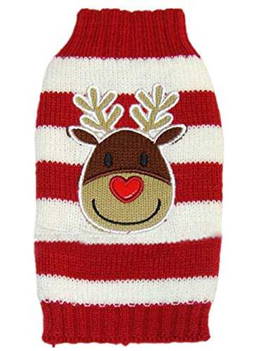 Moorfowl Reindeer Knitted Christmas Dog Sweater