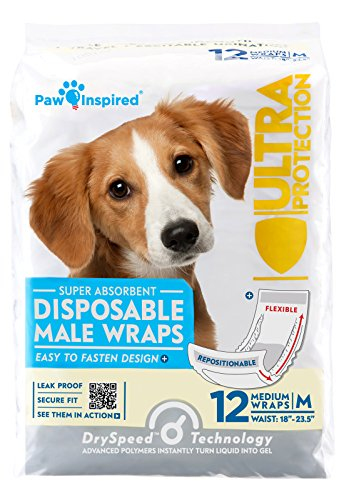 Paw Inspired Ultra Protection Disposable Male Wraps