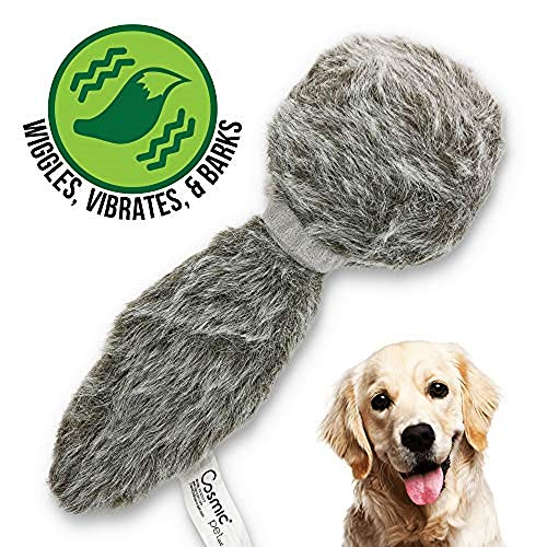 Hyper Pet Doggie Tail Interactive Plush Dog Toys (Wiggles, Vibrates, and Barks – Dog Toys for...