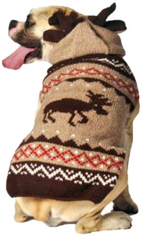 Chilly Dog Moosey Hoodie Dog Sweater