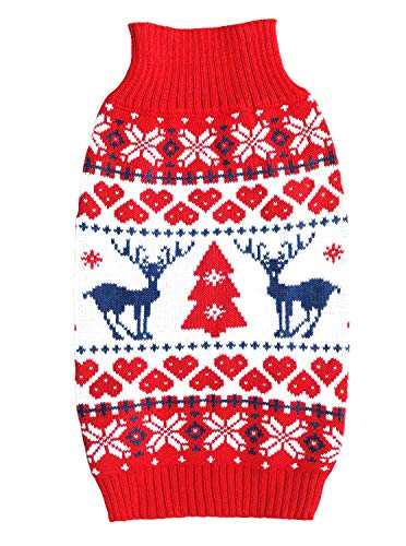 E&L Christmas Holiday Classic Festive Dog Sweater