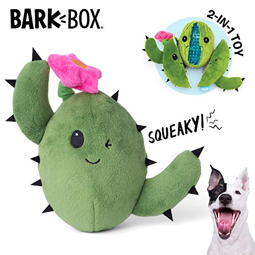 BarkBox Interactive 2-in-1 Stuffed Plush Squeaky Dog Toy for Small/Medium/Large Dogs (Consuela The...