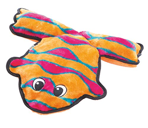 Outward Hound Invincibles Frog Stuffingless Dog Toy
