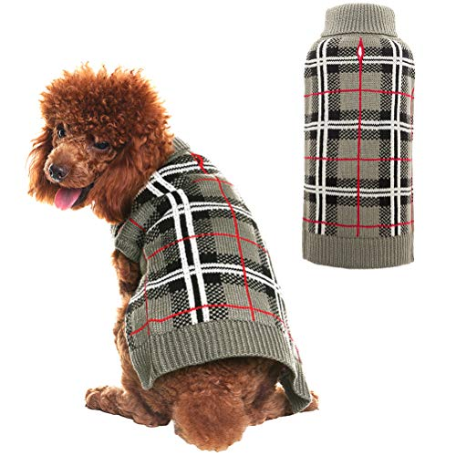 PupTeck Classic Plaid Style Sweater