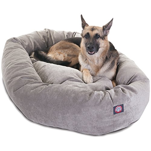 Majestic Pet Villa Micro-Velvet Bagel Dog Bed