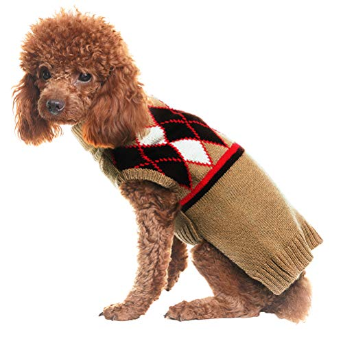 Pupteck Rhombus Pattern Dog Sweater