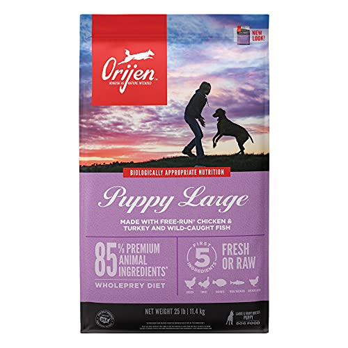 ORIJEN Dog Puppy Recipe, 25lb, High-Protein Grain-Free Dry Puppy Food, Packaging May Vary