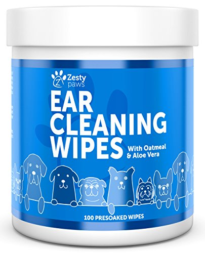 Zesty Paws Ear Cleaning Grooming Wipes