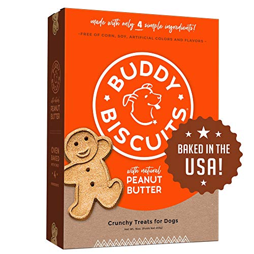 Buddy Biscuits Oven Baked Treats with Peanut Butter, Whole Grain - 16 oz. - Single Box