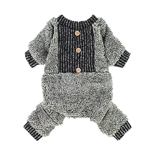 Fitwarm Fuzzy Fleece Thermal Dog Pajamas