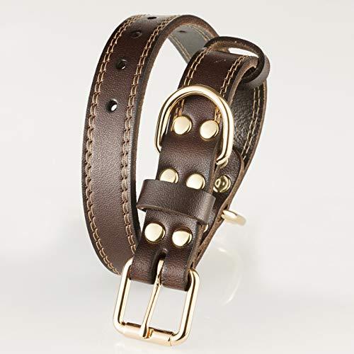 Trevano Leather Dog Collar