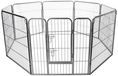 Paws And Pals 8-Panel Metal Fence Heavy Duty Pen