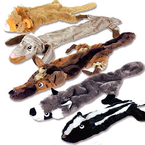 High Five Pets Dog Squeaky Toys (Pack of 5)
