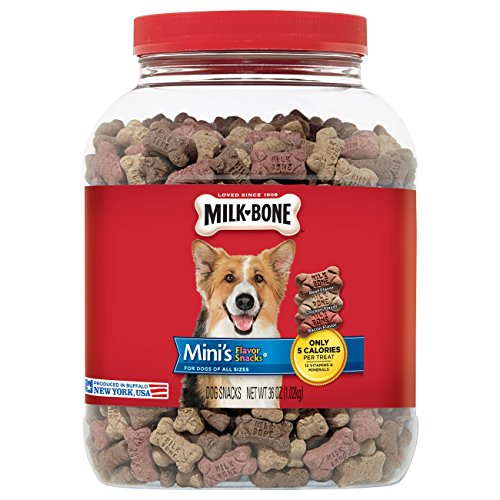 Milk-Bone Flavor Snacks Dog Treat, Mini Biscuits, 36-Ounce