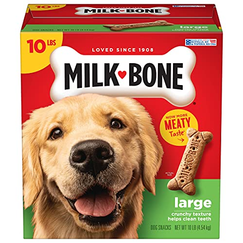 Milk-Bone Original Dog Treats Biscuits for Large Dogs, 10 Pounds (Packaging May Vary)