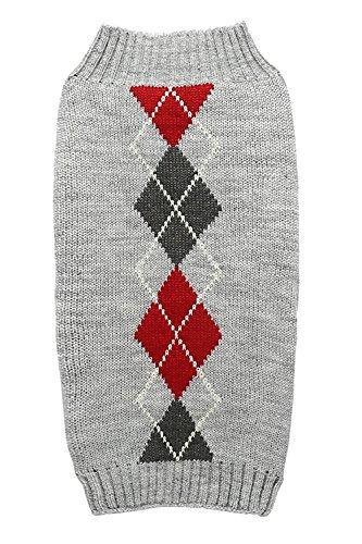 Alemon Argyle Knit Pet Sweater