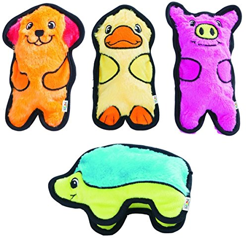 Outward Hound Invincibles Stuffing-Less Toy (Pack of 4)