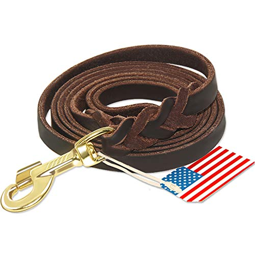 Highland Farms Select Leather Leash